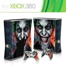 ホット販売ゲームプロテクタービニールマイクロソフトxbox 360 のスリムと 2 コントローラスキンステッカーのためのx box 360 コンソール
