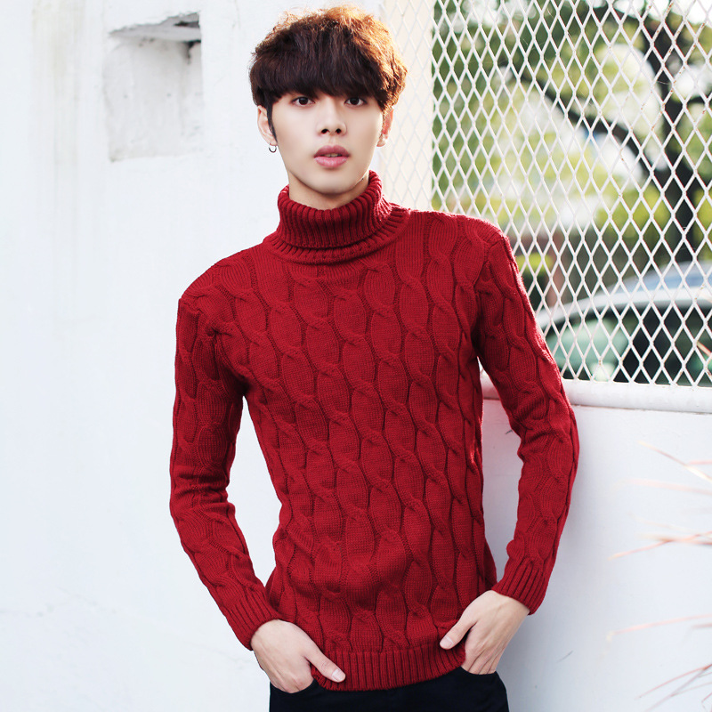 Mens Mock Turtleneck Sweater