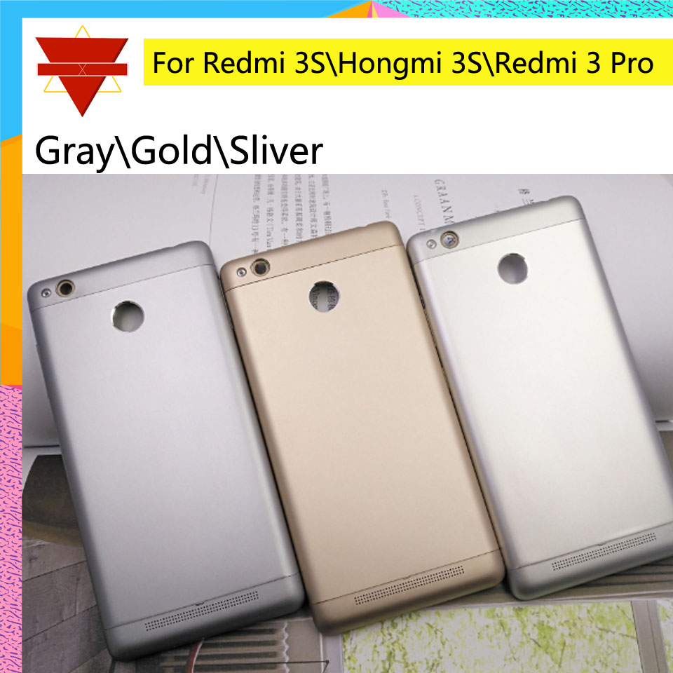 10pcs\lot Rear Housing <font><b>Cover</b></font> For Xiaomi <font><b>Redmi</b></font> <font><b>3S</b></font> Hongmi <font><b>3S</b></font> <font><b>Battery</b></font> <font><b>Cover</b></font> back <font><b>cover</b></font> For <font><b>Redmi</b></font> 3 Pro Houisng Door Case Chassis image
