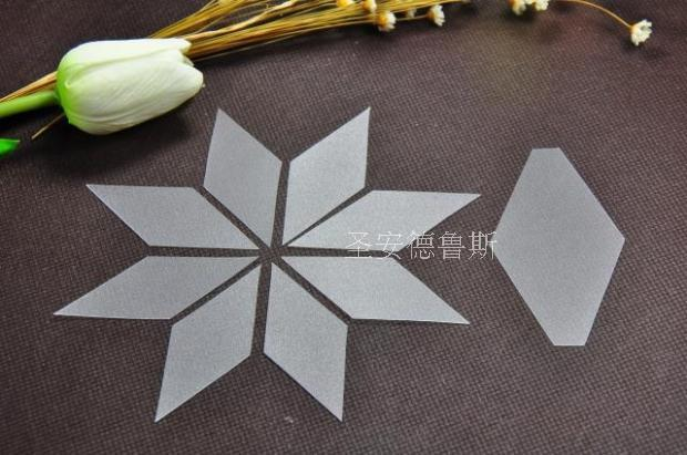 Plastic Rhombus Manual Patchwork Template Crimping Templates Side Length 3.5cm For Patchwork Quilt Paintings Bags Coasters