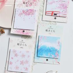 24 шт. Fuji крепление Стикеры для записей японский розовый цветок цвет наклейки Канцтовары офисный школьный поставки материал Эсколар F418