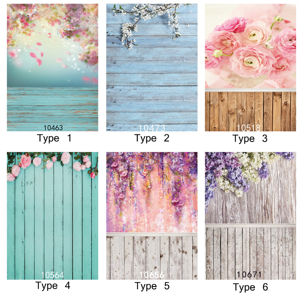 Photographic Background Flowers Watercolor Painting Wall Wood Flooring 5X7ft Vinyl Backdrop Fond Studio Photo Children Newborn parquet wood flooring allenjoy photographic background plank red roses newborn vinyl backdrops photo for studio send rolled