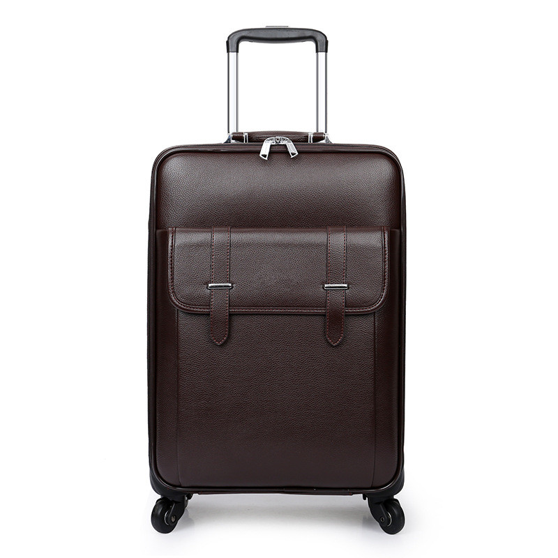 цена на 16,20,24 Inch,Spinner wheel,PU Retro box,Lightweight, shock bag Travel Suitcase,Trolley Case,Business 4 Wheels Rolling Luggage