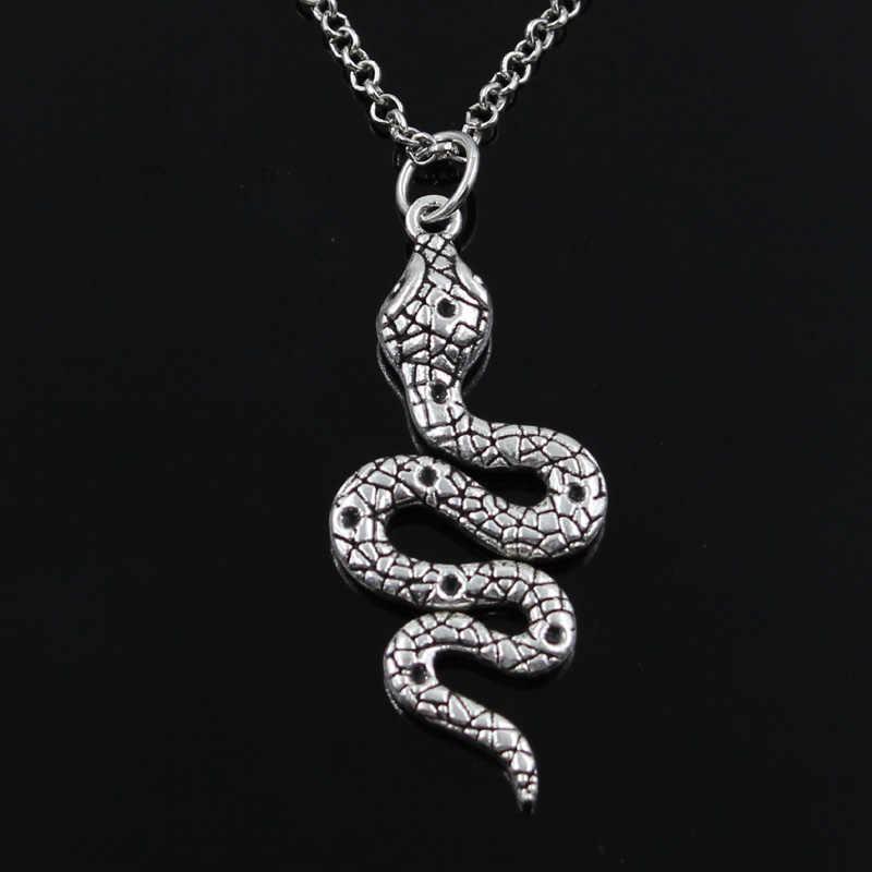 ใหม่แฟชั่นงู Cobra จี้รอบ CROSS สั้นยาวบุรุษสตรีเงินสร้อยคอเครื่องประดับของขวัญ