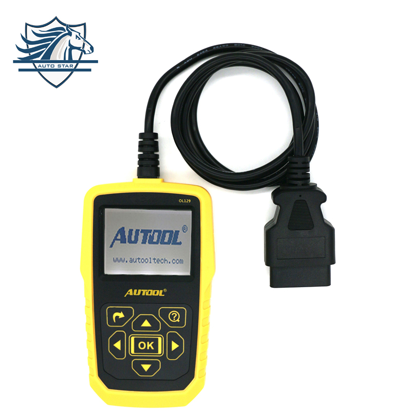 Automotive OBD2 Code Scanner AUTOOL OL129 Battery Monitor and EOBD+CAN Diagnostic Tool Live Data Stream better than Autel AL519 100% original launch creader 519 odb obd2 scanner for obd2 can eobd jobd cars cr519 diagnostic tool free gift brake fluid tester