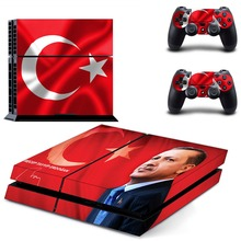 flag of Turkey decal PS4 Skin Sticker For Sony Playstation 4 Console +2Pcs Controllers 7 patterns
