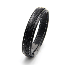 Fashion Braided Leather Bracelets Clasp Bangles Black/Brown Rope Chain Punk Wristband