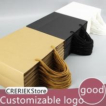 28*20*10 см белый черный Высокое качество простой бумажный подарочный пакет крафт-бумага коробка для конфет с ручкой свадьба день рождения подарок посылка