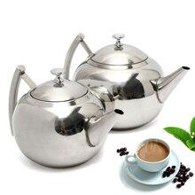 Neue 1,5/2L Edelstahl Teekanne Tee Kaffeekanne Mit Tee Blatt Filter Infuser Für Hause Tee Werkzeuge