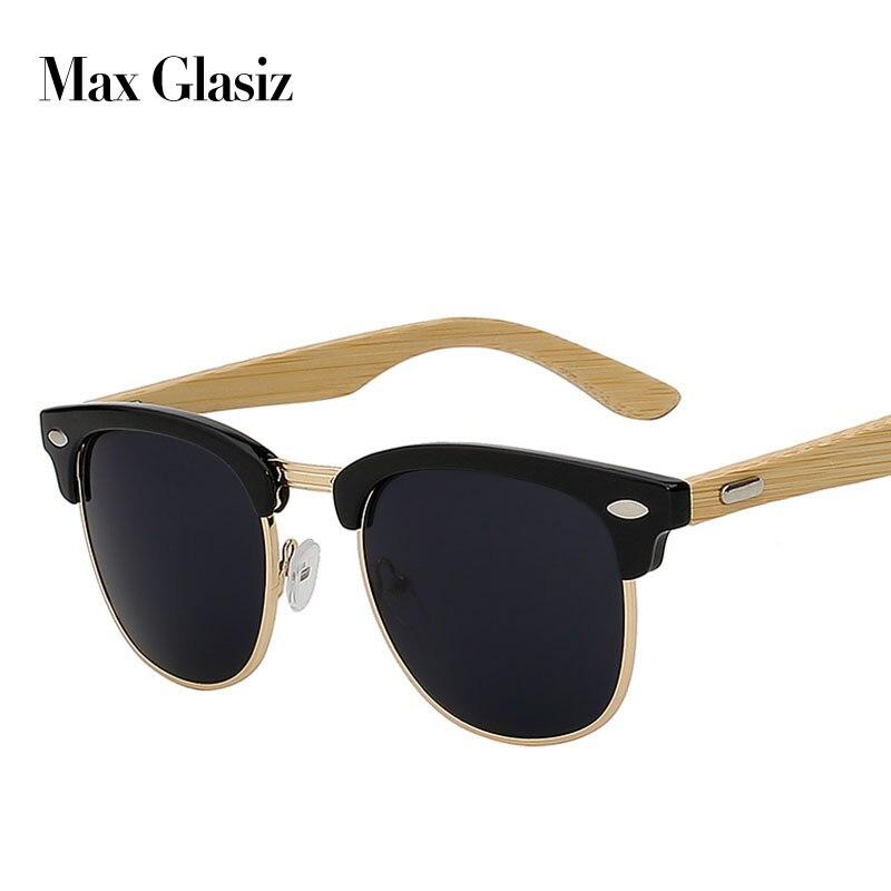 2018 Novo designer da marca de óculos de sol de bambu de madeira para as mulheres homens óculos retro do vintage dos homens gafas de madeira