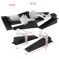 Top Quality 50pcs Black Tile Flat Leveling System Wall Floor Spacers Strap Device   Tools