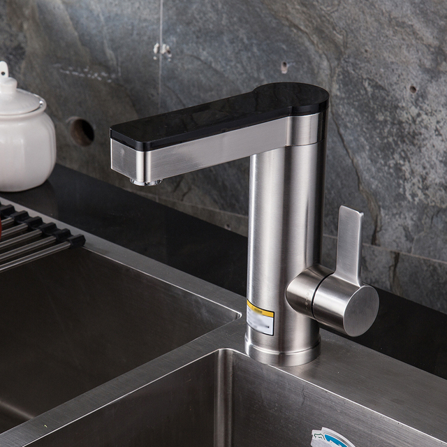 Automatic water heater tap with touch screen