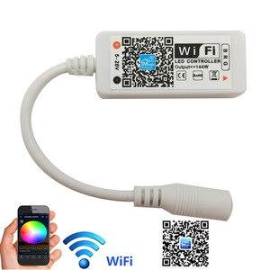 24 клавиши WiFi RGB контроллер DC 5 V-12 V 24V Мини WiFi беспроводной телефон iOS Android APP пульт дистанционного управления для SMD 3528 5050 Светодиодная лента