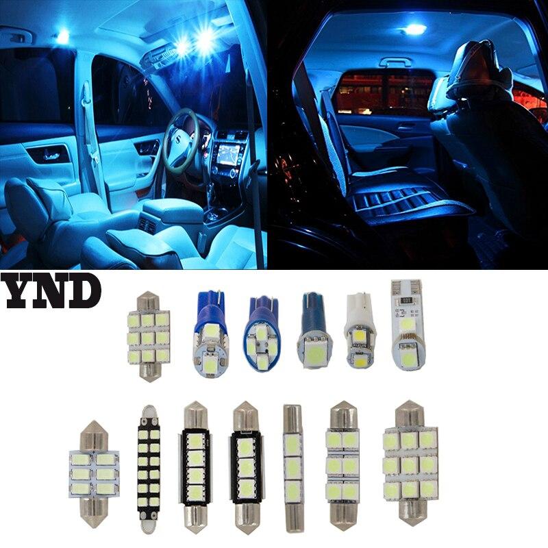 11x Ice blue LED Package Interior Light For 2008-2015 Dodge Grand Caravan maverick ice 5 blue