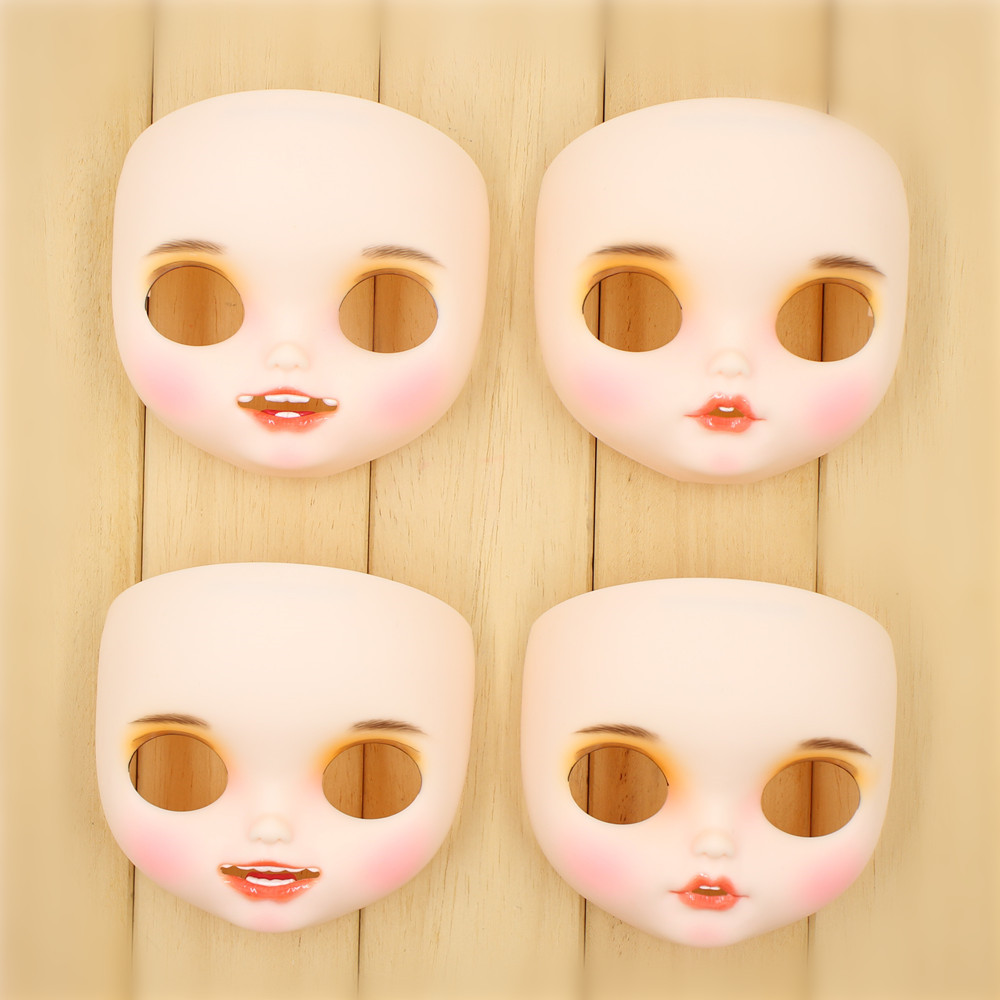 1 6 Blyth doll matte panel New toothed White skin hand painted shell with lip brows