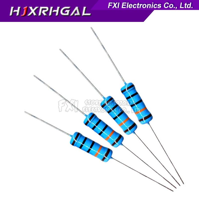 20pcs 3W Metal Film Resistor 1% 1R ~ 1M 1R 4.7R 10R 22R 33R 47R 1K 4.7K 10K 100K 1 4.7 10 22 33 47 4K7 Ohm IgMopnrq