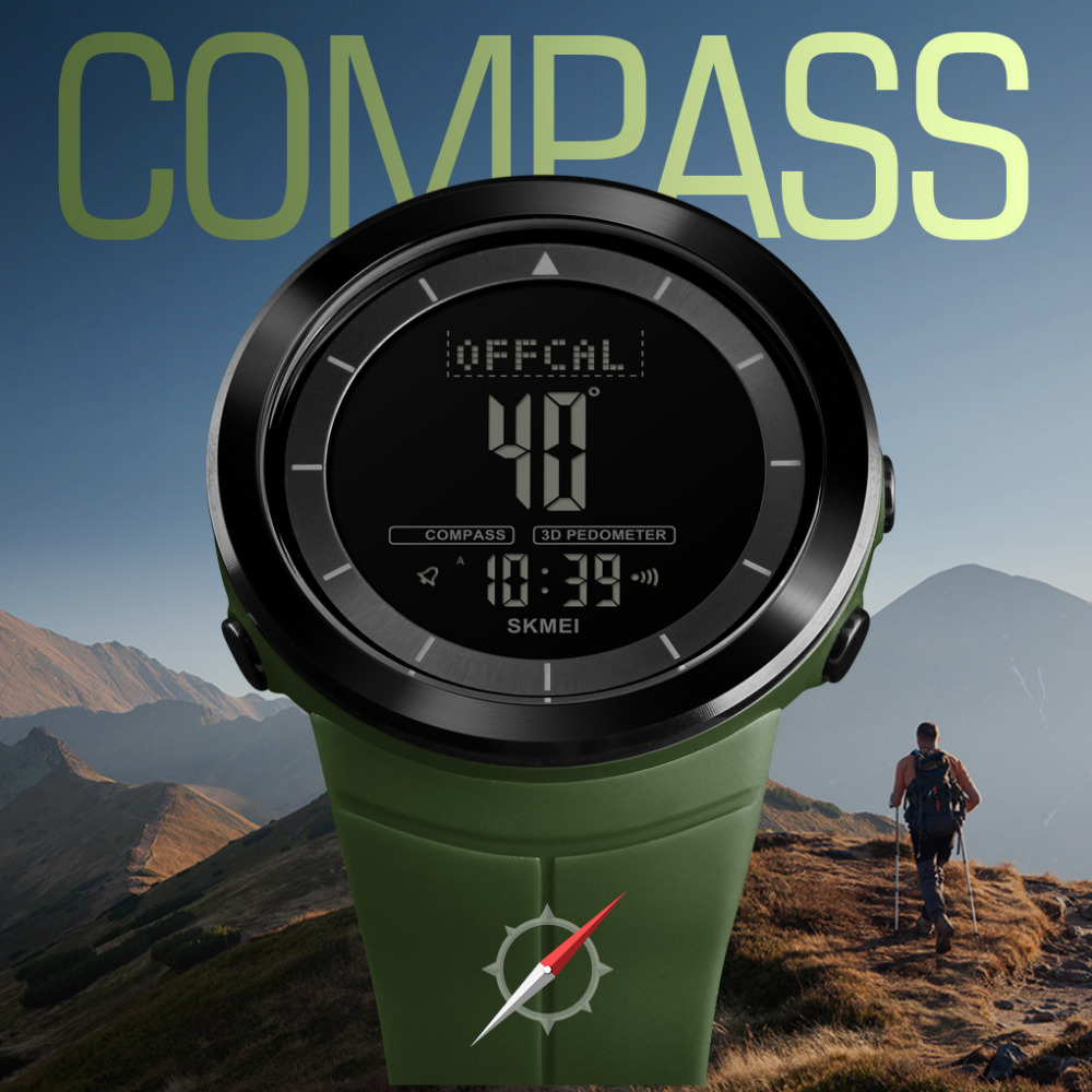 Relogio Masculino SKMEI Compass Mens Watches Outdoor Sports Wristwatches Waterproof Alarm Clock Digital Watches Military WatchRelogio Masculino SKMEI Compass Mens Watches Outdoor Sports Wristwatches Waterproof Alarm Clock Digital Watches Military Watch