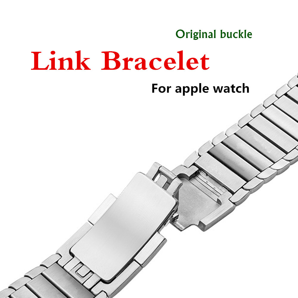 316L Stainless Steel watchband for Apple Watch Band strap 42mm/38mm link bracelet metal Belt Buckle for iwatch 3/2/1 metal buckle belt 3 pcs
