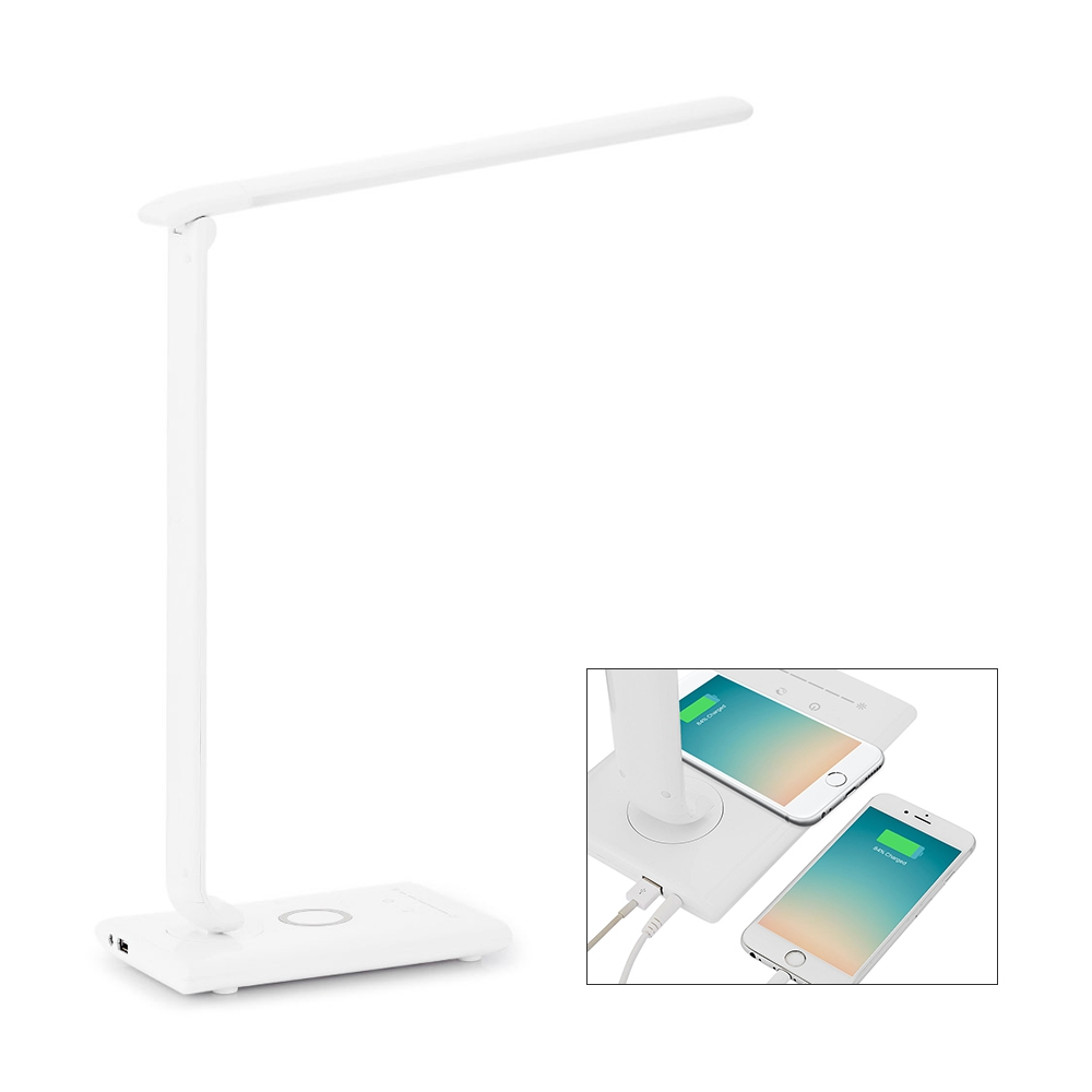 Wireless Desktop Charger LED Desk Lamp Table Light Touch Control for Reading Study Lamp Office Table Lamp with USB Charger Light portable mini table lamp humidifier foldable led night light smart touch control led reading light for home office