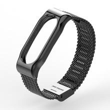 D'origine mijobs pour xiaomi mi bande 2 bracelet en acier inoxydable pour xiaomi mi marque smart bracelet miband 2 bracele bracelet