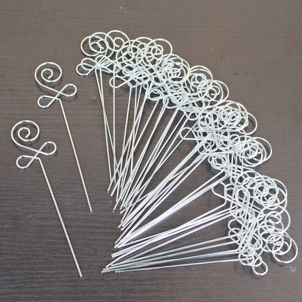 lot 50pcs DIY flower shape craft new metal wire ... for Paper Chandelier Craft  34eri