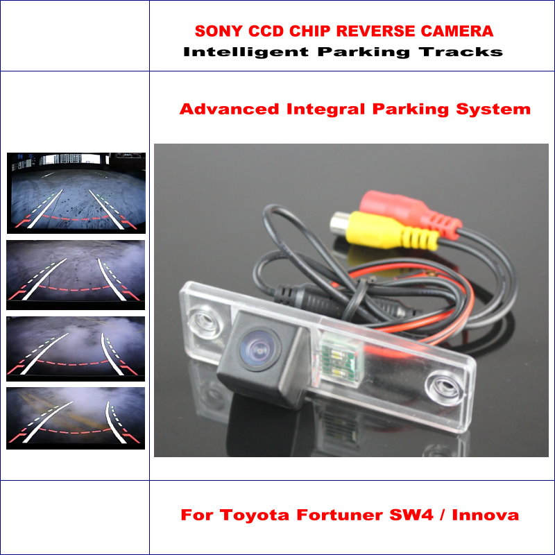 High Quality Intelligentized Car Parking Rear Reverse Camera For Toyota Fortuner SW4 / Innova NTSC PAL RCA SONY CCD 580 TV Lines цена 2017