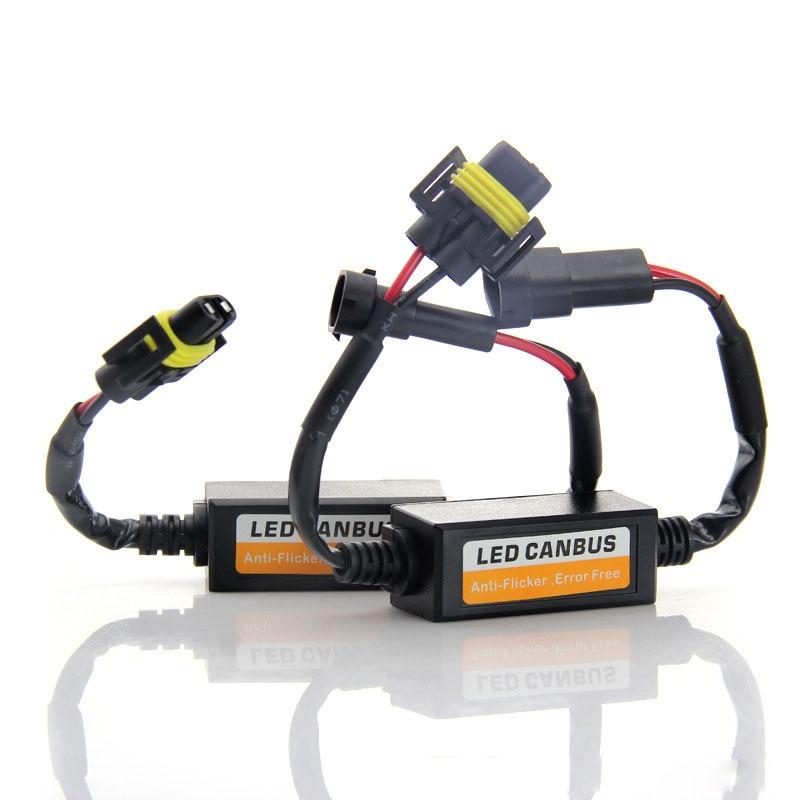 PAMPSEE-H1 H3 H4 H7 9005 9006 H11 LED Canbus imprimante de câblage condensateur anti-scintillement, décodeur EMC