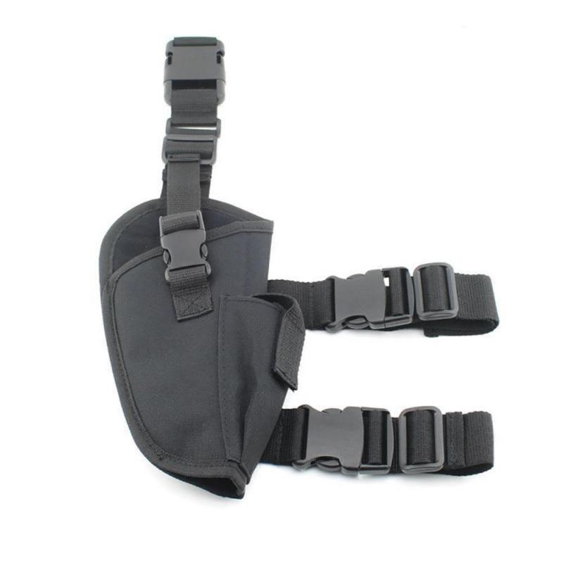 Hunting Right Leg Pistol Holster Adjustable Military Airsoft Holster Pistol Drop Leg Holster Thigh Holster For Right Hand