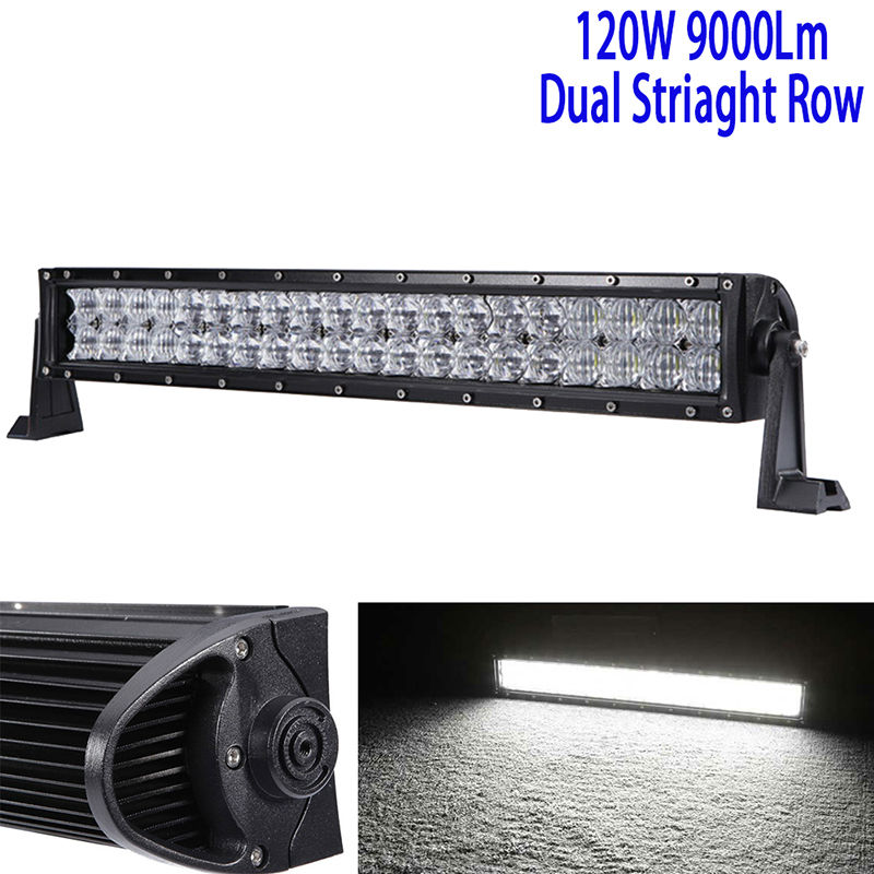 22Inch 120W 5D Led Driving Light Bar Led Work Light Bar Straight Roof Offroad Truck Suv Atv Utv Boat 4wd 6000k White Combo 12v свитер вратарский puma statement gk 701917471