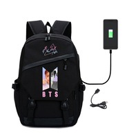 Kpop Backpack Female Love Yourself Student Backpack Women With USB Charging Port Bag For Laptop Canvas Bag Merchandise
