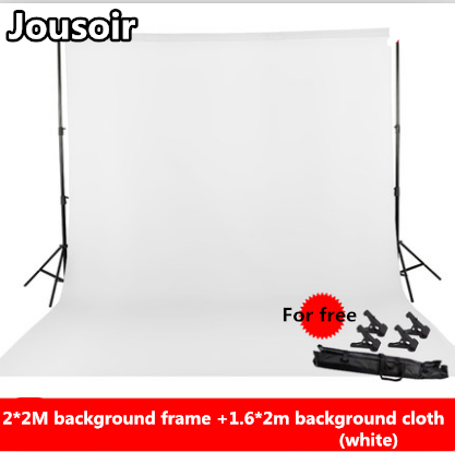 2Mx2M Studio Background Support System Photography Backdrop Stand Kit Cross bar, Portable Carrying Case Non-woven Backdrop NO00D