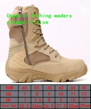 Trekking Tactical hunting shoes waders quick-drying fly rubber fishing overalls Daiwa Outdoor Sport Hiking Men's boots