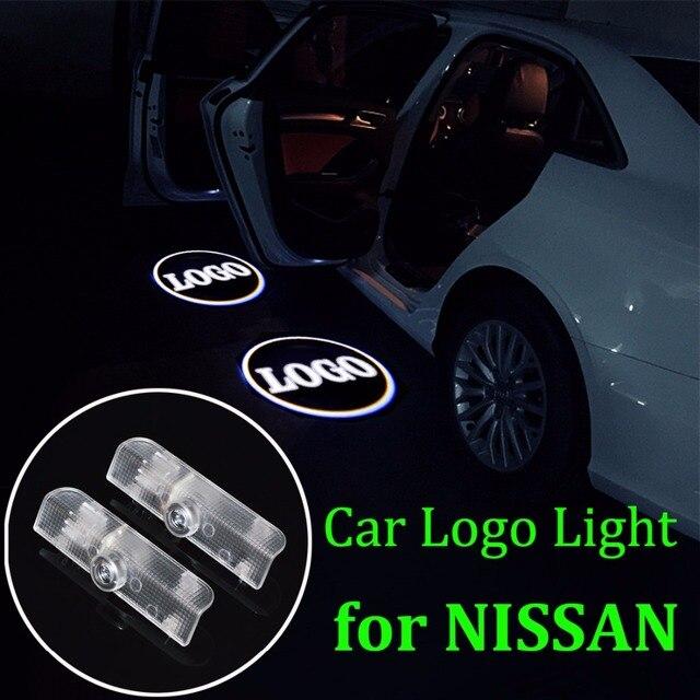flytop 2 PCS LED Car Welcome Light LOGO Laser Bulb Auto Door Light for NISSAN Altima Armada Maxima Quest Titan Teana