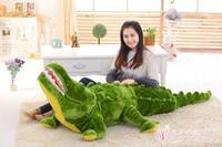 Крупнейший 220 см мультфильм крокодил Мягкие плюшевые игрушки Спящая Подушка игрушка творческий Рождество подарок h693