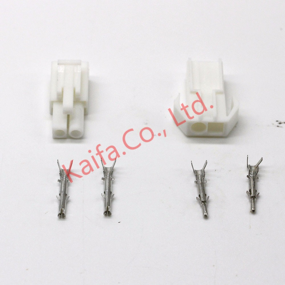 цена на 50 sets Small Tamiya connector Set Kits mini Tamiya set EL 4.5MM male Female socket plug with 2P 2 Way/pin Free shipping