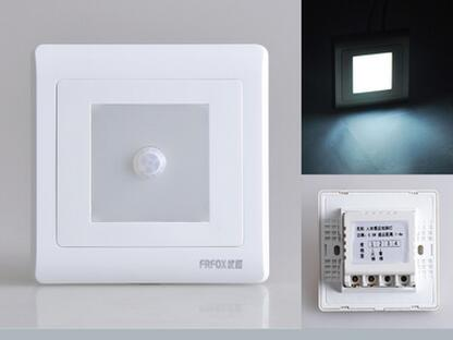 1pcs USB Nightlight wall socket LED footlights foot control The human body sensors White Gold Panel светоотражатель westcott gold white panel 120x180cm 1704