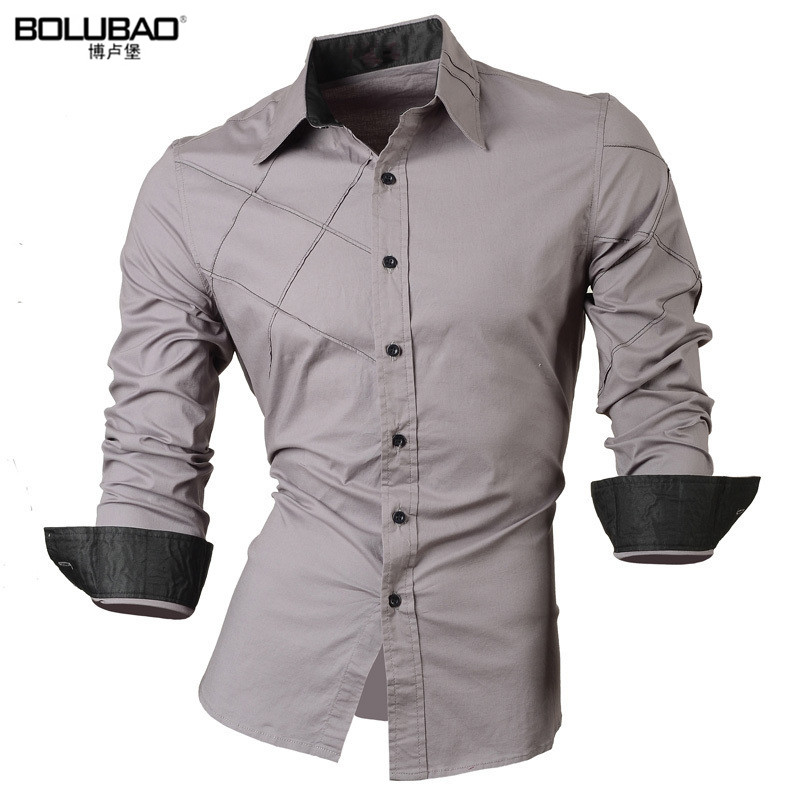 BOLUBAO2017 New Men Shirt Male Dress Shirts Mens Casual Long Sleeve Business Formal Shirt High Quality Oxford Shirt