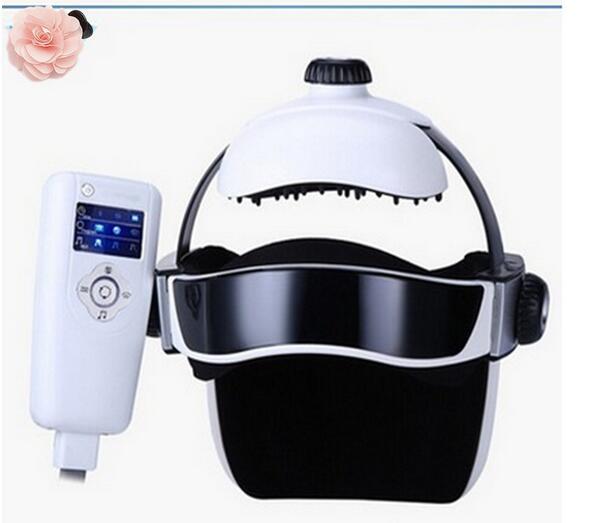 New Electric Head Massager Brain Massage Adjustable Size Instrument Helmet With Music Head Massage Life Relaxation Health Care недорого
