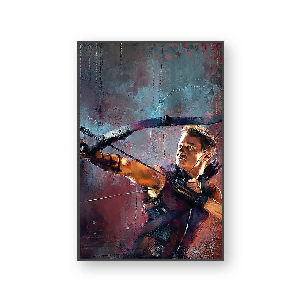 Настенный художественный холст с печатью постера, настенные картины для домашнего декора, Марвел, Мстители, фильм супергерой, Дэдпул, Железный Человек-паук, Локи - Цвет: L394W