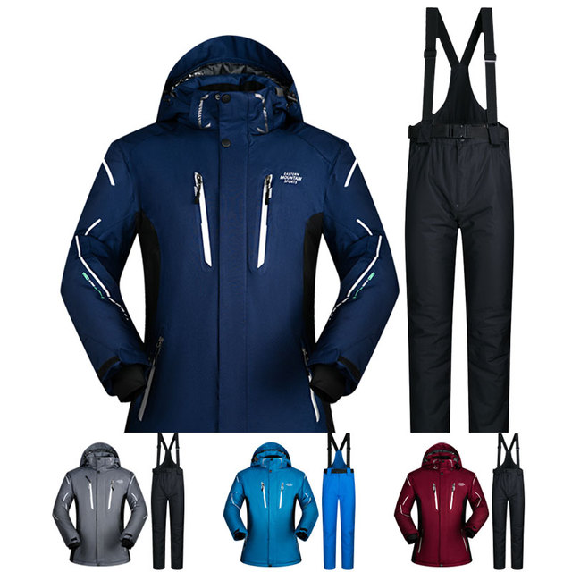 ee70606fa988 Ski Suit Men Sets Super Warm Thicken Waterproof Windproof Winter Snow Suits  Male Sets Winter Skiing And Snowboarding Jacket Men