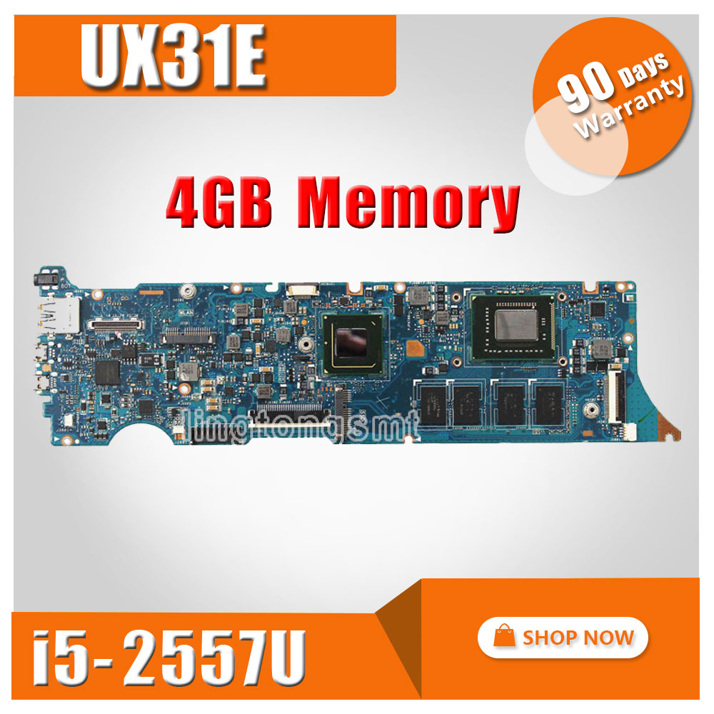 SAMXINNO For ASUS UX31E motherboard UX31E REV3.2 Mainboard Processor i5-2557u 4G Memory on board 100% tested wavelets processor