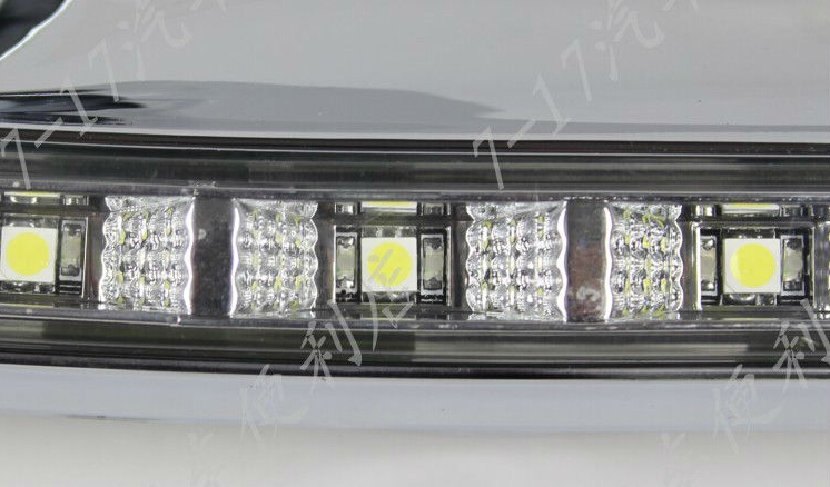 New! super bright plating chrome CAR-Specific HIGHLANDER 2012 2013 LED DRL LED Daytime Running Light with yellow turn lights brand new chrome original position drl led daytime running lights for volvo s60