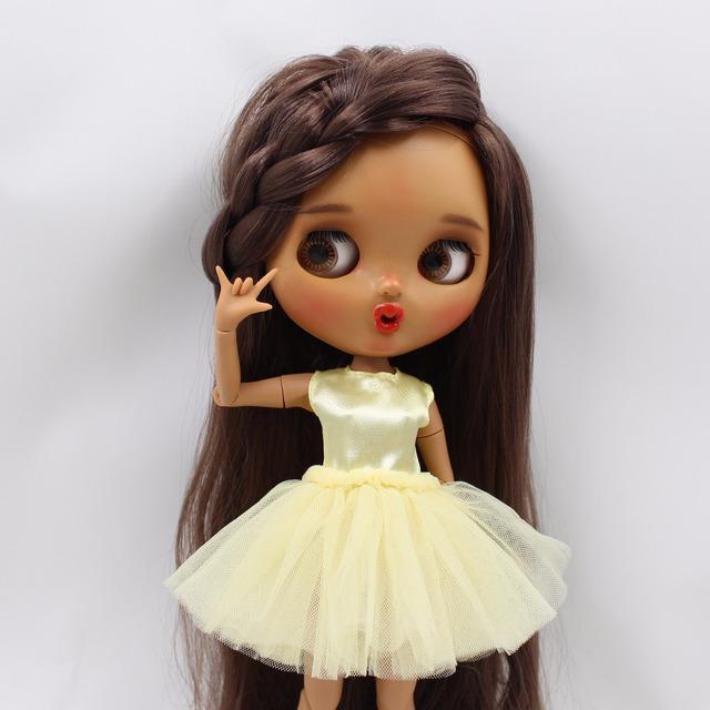 Neo Blythe Doll Dress with Denim Jacket