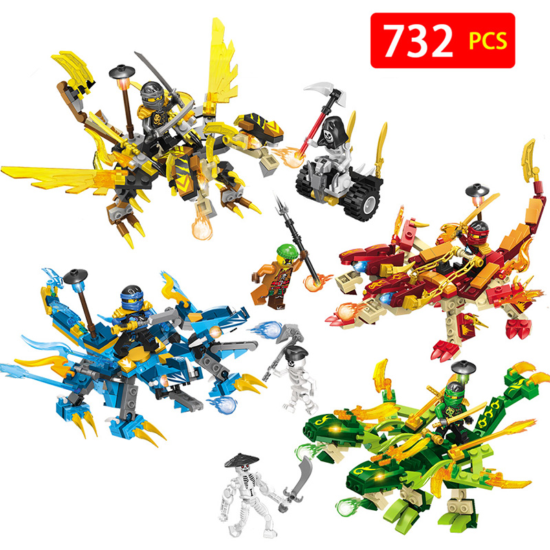 4 in 1 Ninjagoed Dragon Building Block Kai Jay Cole Zane Lloyd Wu Nya Garmadon Toys Compatible With Legoingly Ninjagoes ninjagoeingly cole jay cole zane lloyd sensei wu nya lloyd nadakhan dogshank blocks toys for childre compatible with legoeinglys