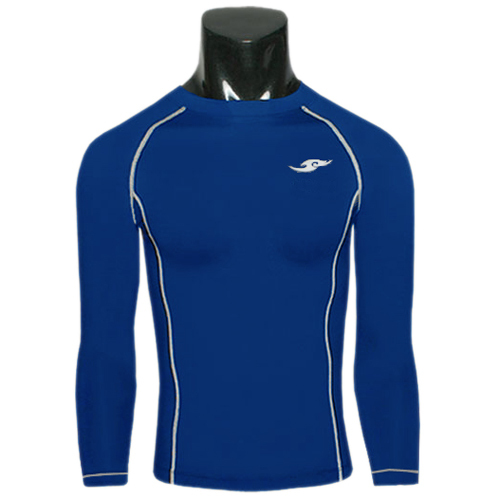 3 Color Cloud Brand Mens Compression T shirts Base Layers Long sleeve Fitness Tight Bodybuilding Thermal Skins Gear