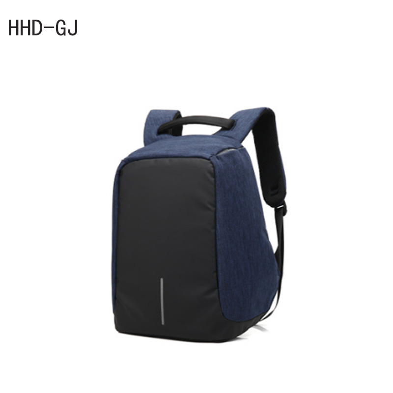 HHD-GJ External USB Charge Computer Bag Anti-theft Notebook Backpack 15 17 inch Waterproof Laptop Cases Backpack for Men Women