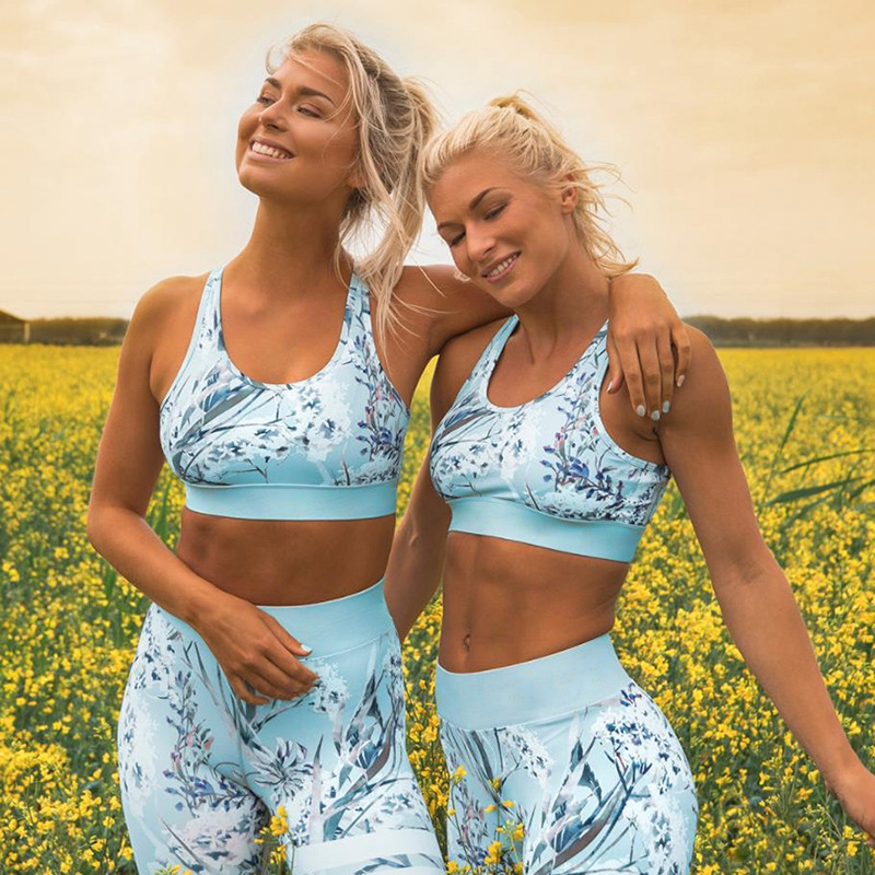 Initiative 2019 Sexy Sleeveless Floral Bra Leggings Women Printed Large Size Gym Yoga Clothing Sportswear Workout Fitness Jumpsuit Cheap To Be Renowned Both At Home And Abroad For Exquisite Workmanship Home Skillful Knitting And Elegant Design