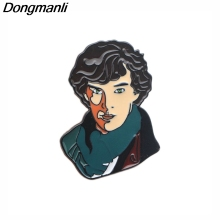 DMLSKY Benedict Cumberbatch Metal Pin Clothes bags Brooch Cartoon Creative Pins Denim Hat Badge Collar M2559