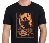 THE TEXAS CHAINSAW MASSACRE Horror Movie Poster T Shirt Size S 3XL Men Brand Printed 100