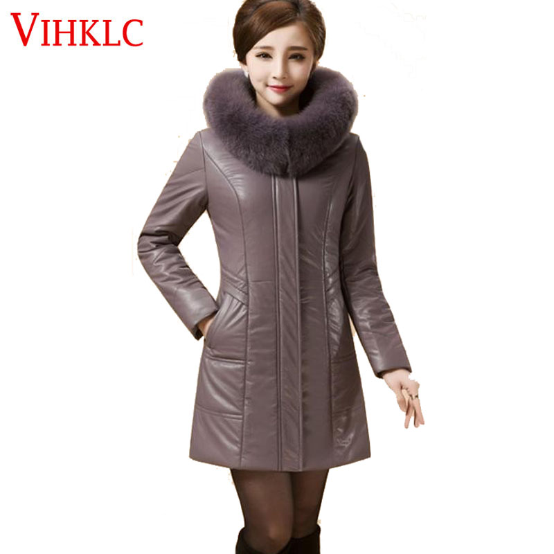 green light Section violet Cuir Qualité Haute Hiver Veste champagne Fourrure Femmes Couleur Black Longue Thickencoat De red Pur Grande L'europe A37 blue Taille Mode Élégant Wine Tan Blue En Col lake OIqSpFWxw